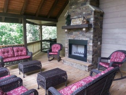 Book a Gatlinburg vacation at Smokies Edge, one of our four bedroom Pigeon Forge cabin rentals.