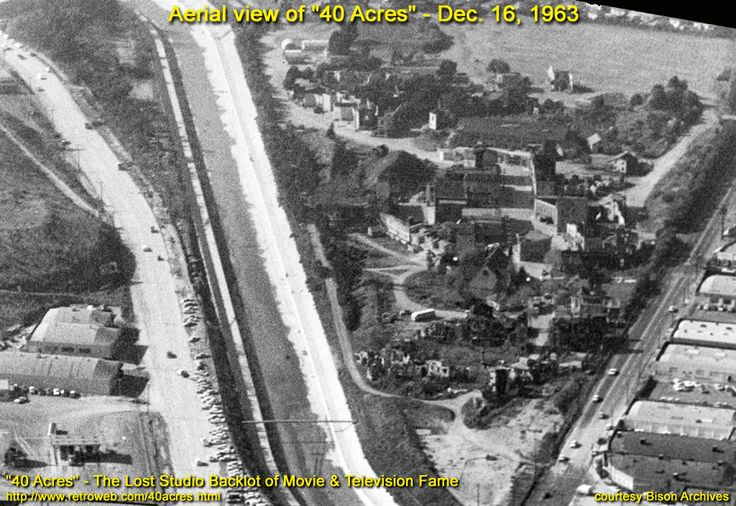 Aerial view of 40 acres backlot dec 1963 acre aerial