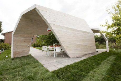 Проект деревянной дачной беседки