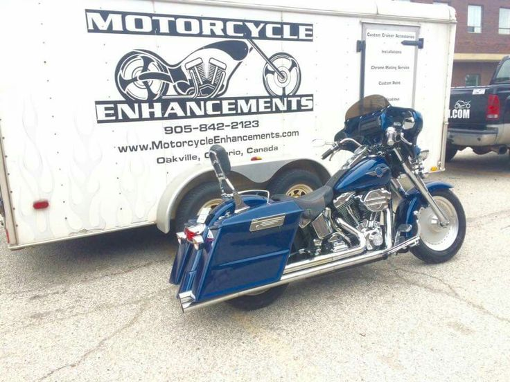 Harley softail converted into a bagger.