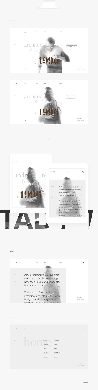 ARC website concept on Behance
