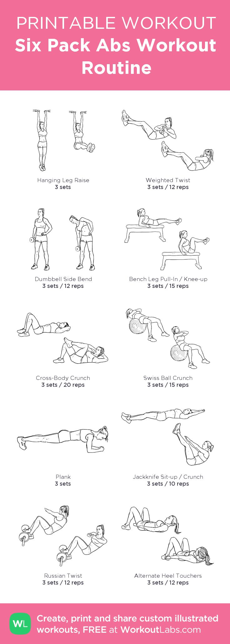 Best 25 Abs Workout Routines Ideas On Pinterest  Core -7944