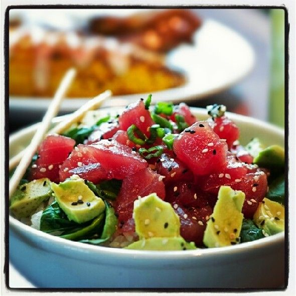 Caliche's Poke Bowl @ Salt Life Food Shack @saltlifefoodshk in #CoralSprings