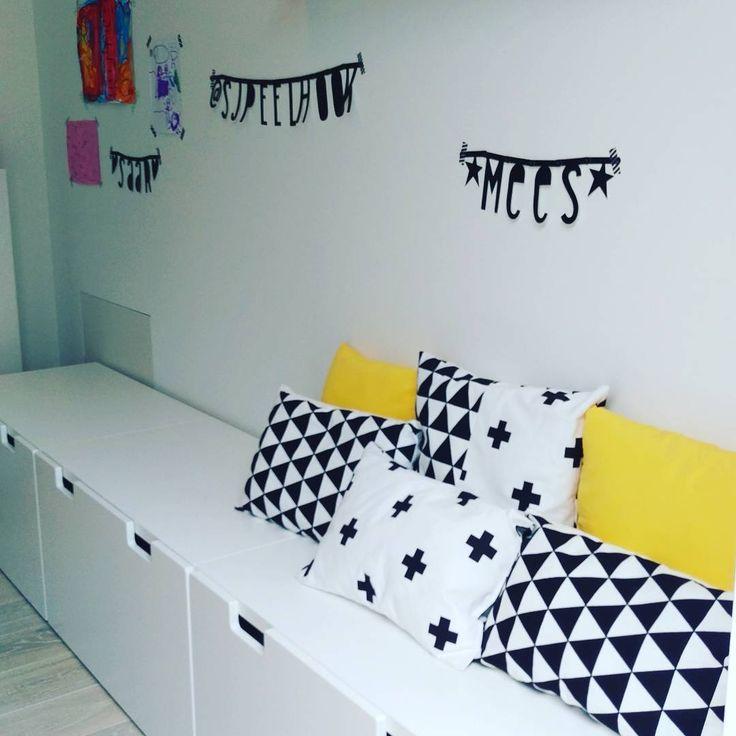 #kwantum repin: Stof JOEP >  https://www.kwantum.nl /hobby-vrije-tijd/stoffen/gordijnen-raamdecoratie-hobby-vrije-tijd-gordijnen-stoffen-print-stof-joep-zwart-0412135 @nondepie