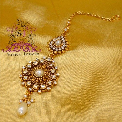 Pear Shaped Pearl & Zircon Tikka