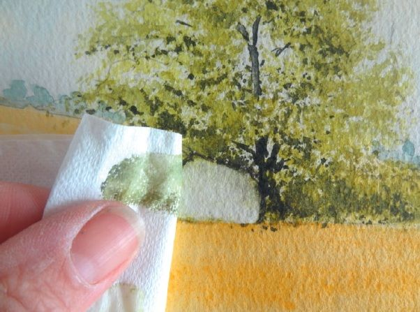 Learn Easy Ways to Correct Mistakes in Watercolour paintings from artist Rosemary Hale