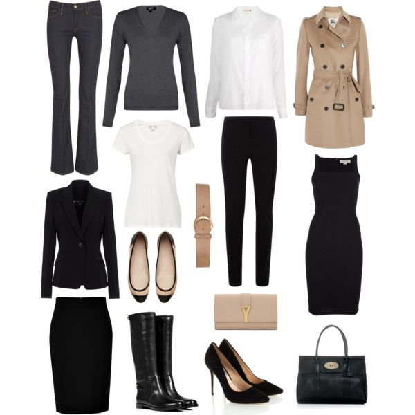 "MINIMAL + CLASSIC: ""Capsule Wardrobe"" by lisapril on Polyvore:"