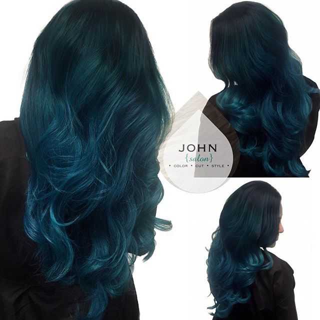 Best 25  Teal hair highlights ideas on Pinterest | Colored ...