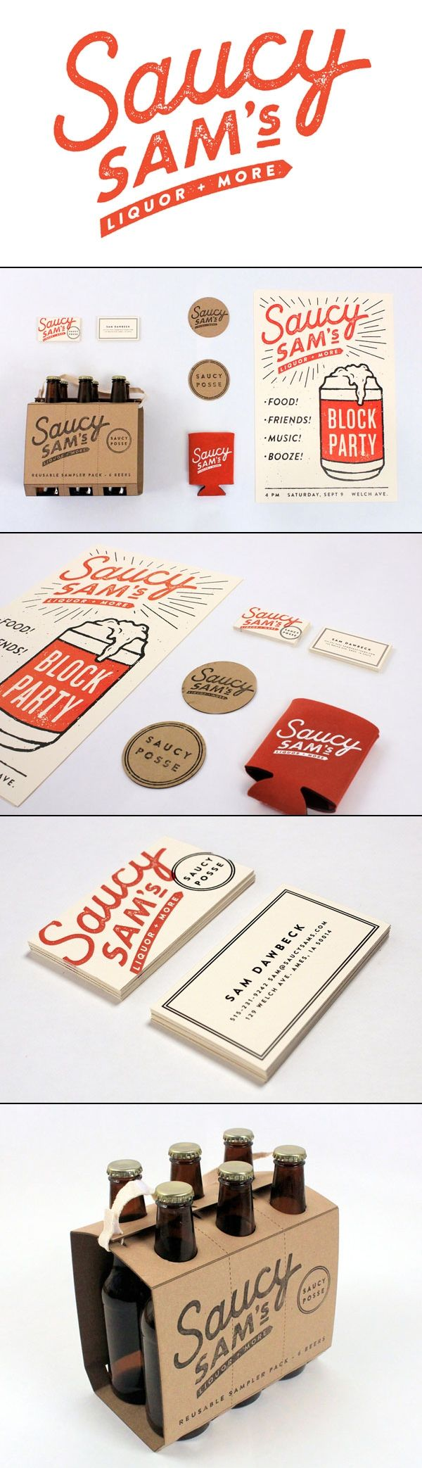 Saucy Sam's – Branding and Packaging by Alex Register Design