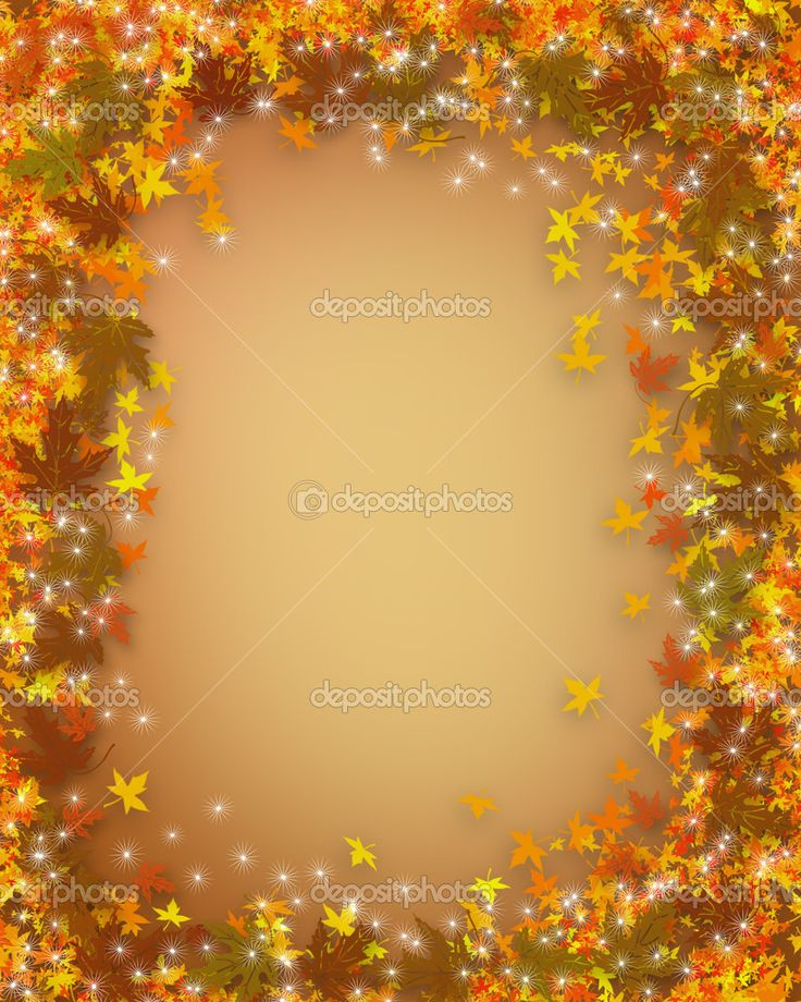 Thanksgiving Borders and Backgrounds | Fall Leaves Autumn ...