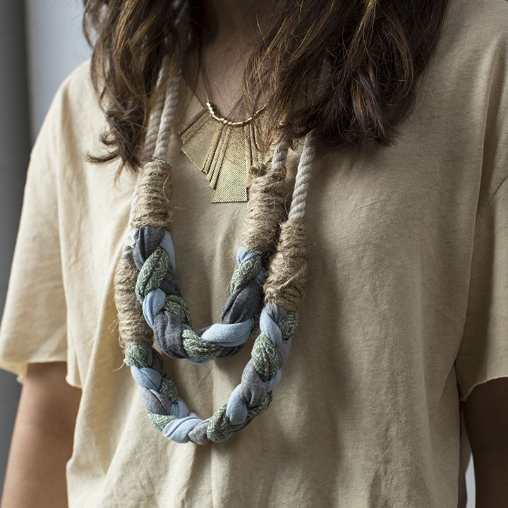 Get crafting in 2014. Learn how to #DIY braided necklaces.