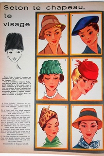 CVintage 1950S, 1950S L Echo, 1920S 1950S Hats, 1950S French