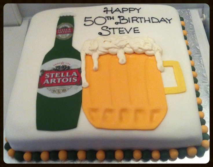 50th Birthday Beer Cake Party Ideas Pinterest