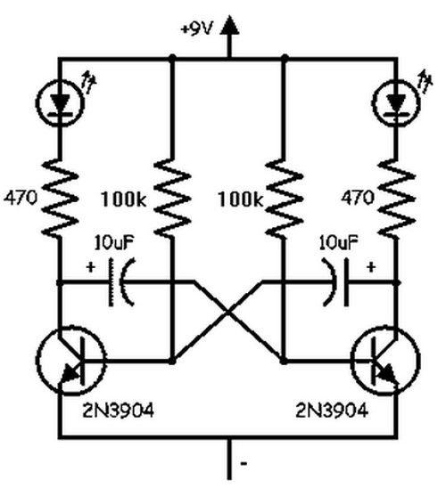 Schéma d'un oscillateur basse fréquence