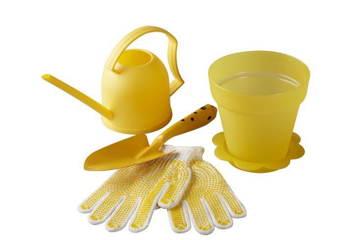 Gardening gift set idea Ft. 1. Watering can 2. Pot plant 3. Hand Shovel 4. Gardening gloves