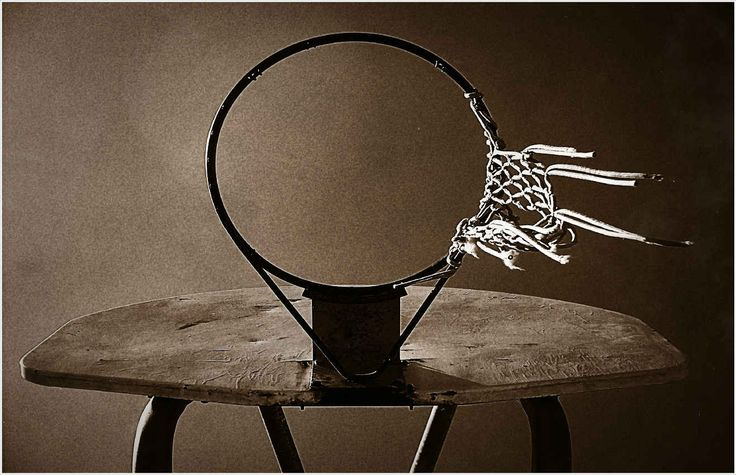 Old Basketball Hoop Home by Robvar's Artist Shop