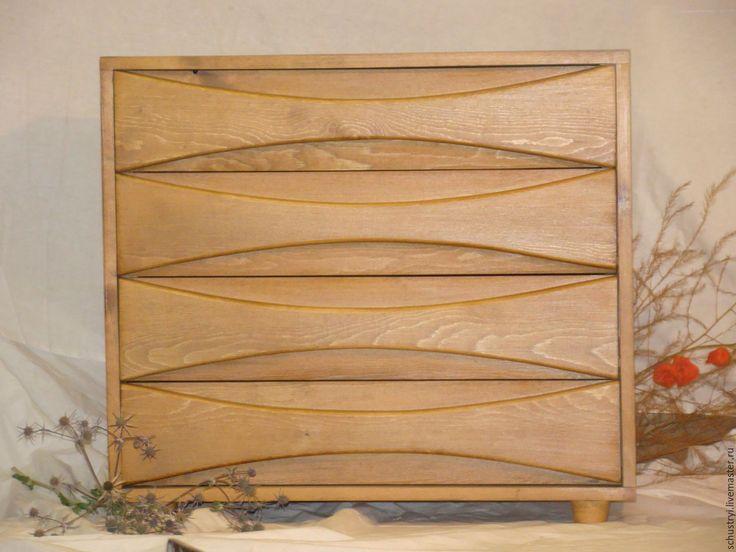 Купить Комод деревянный из кедра в эко - стиле BLISS - коричневый, комод, камод, Мебель