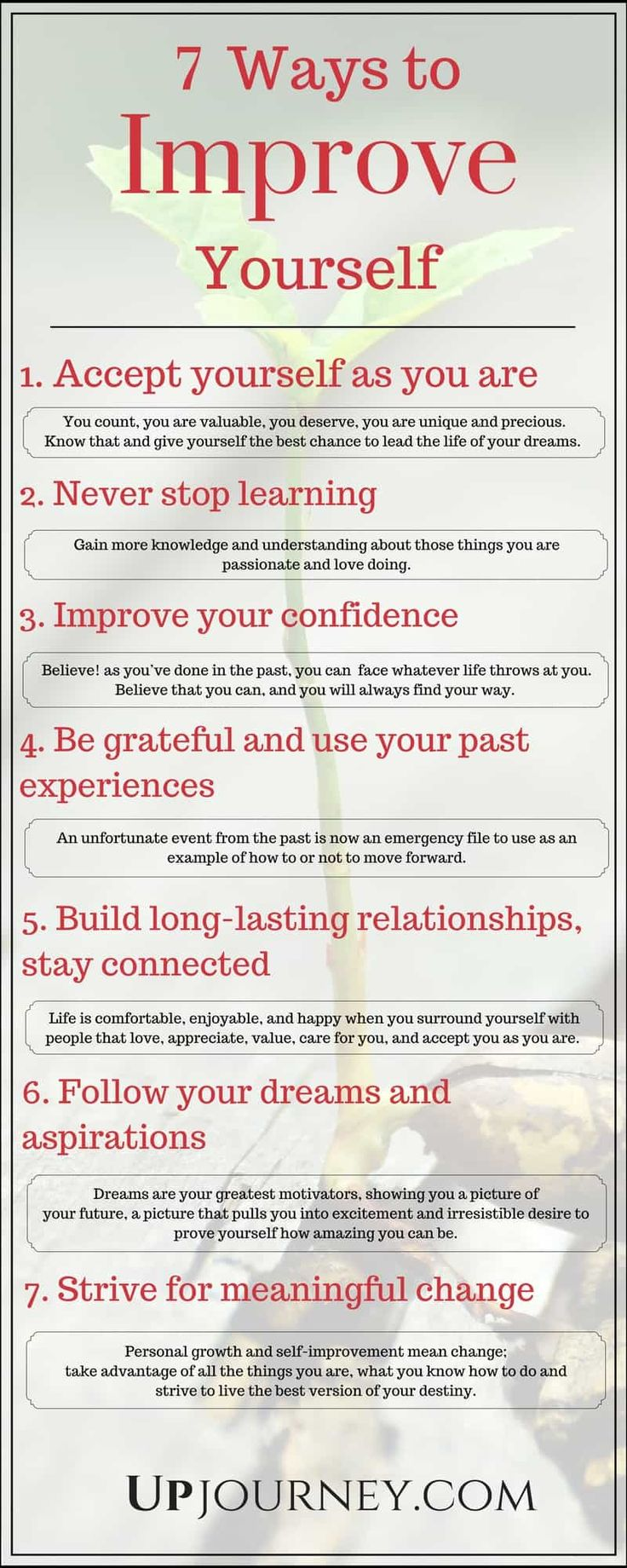 How to Improve Yourself Everyday (7 Ways Infographic