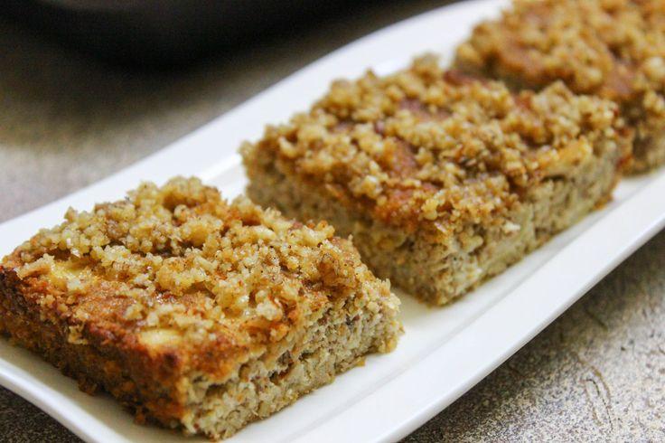 Jablkové řezy s ořechovou drobenkou (paleo) - Green Almonds