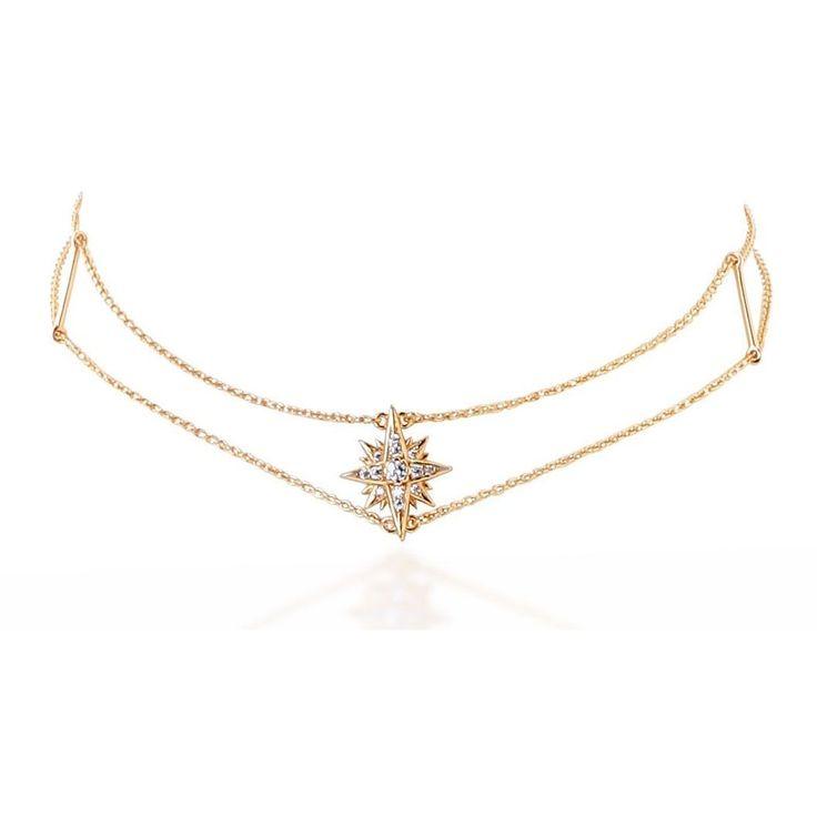 Starburst gold vermeil chain choker