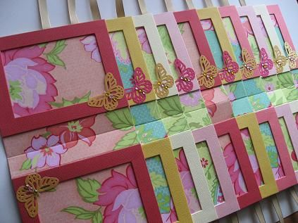 Paper picture frames.