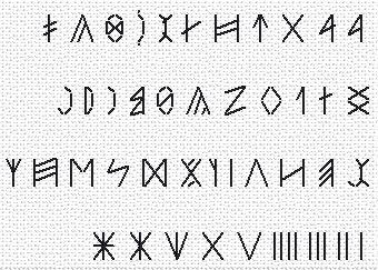 Runic Writing free chart