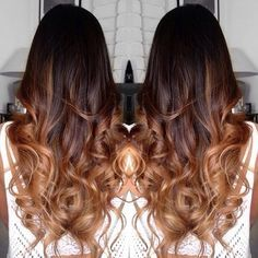 chocolate brown hair with caramel ombre - Google Search