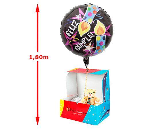 Globo de gas helio Feliz cumpleaños