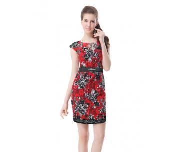 Nette jurk met korte mouwtjes