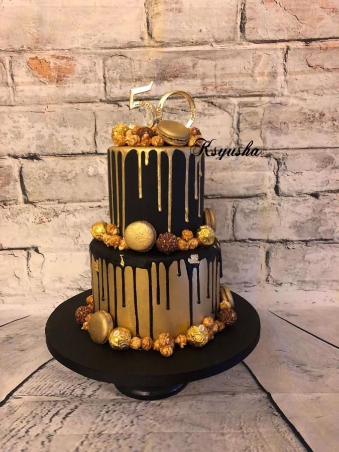 Black Gold 2020 50th Birthday Cakes For Men 70th Birthday