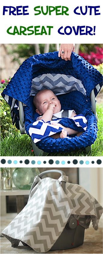 FREE Carseat Covers for Boys and Girls!  Pick your favorite pattern and just pay s/h.  They make CUTE Baby Shower Gifts, too! | TheFrugalGirls.com