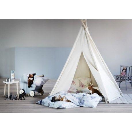 Camping junior sengetøj - Blå