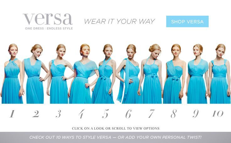 different ways you can wear the david's bridal versa convertible mesh dress - Google Search