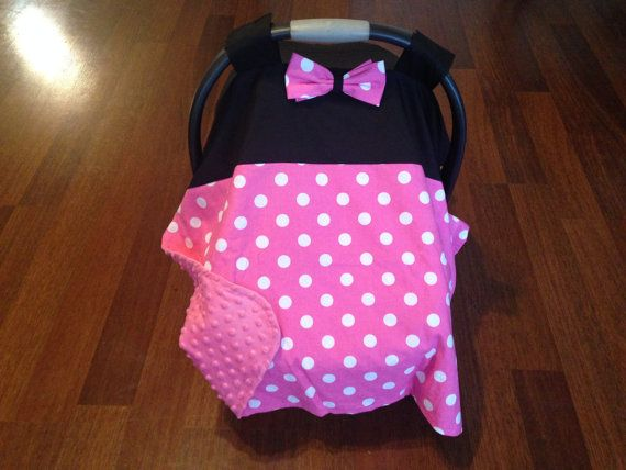 minnie mouse car seat canopy by LindasWoodwork on Etsy
