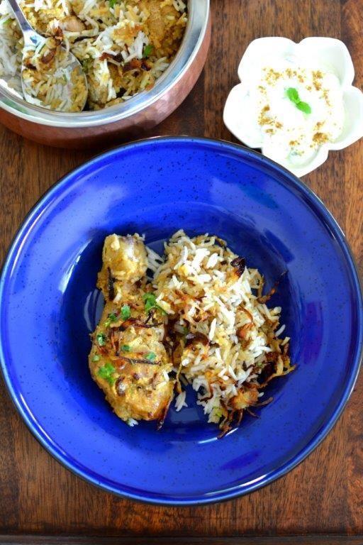 Lucky Restaurant style Chicken Dum Biryani: