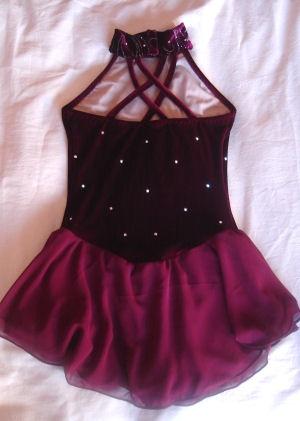 Styleonice.com Misses Burgundy Velvet Halter Dress