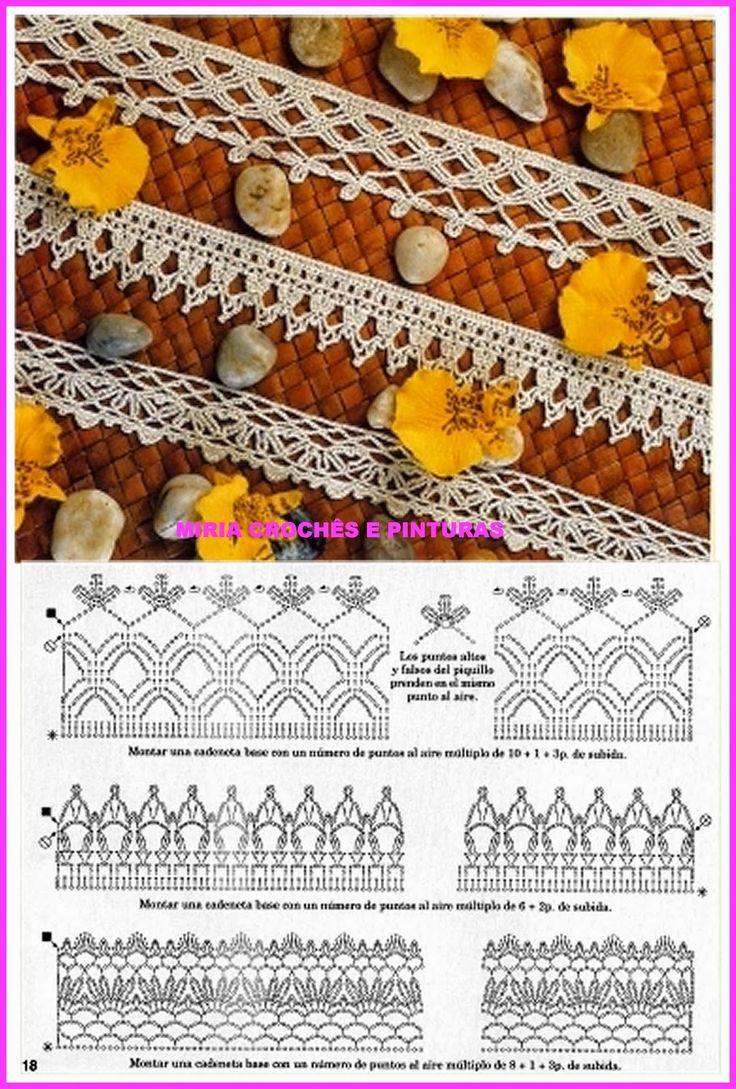 362 best crochet borders images on pinterest crochet stitches miria crochs e pinturas abril 2015 bankloansurffo Image collections