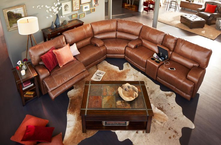 Dapper and Debonair. The Barton sectional has that debonair quality that fits just as well with traditional design schemes as with contemporary styles. Accent stitching emphasizes the camel color and adds refinement to the leather. Outside frame surfaces are wrapped in foam, reducing wear on the cover and helping to prevent any rub-through.