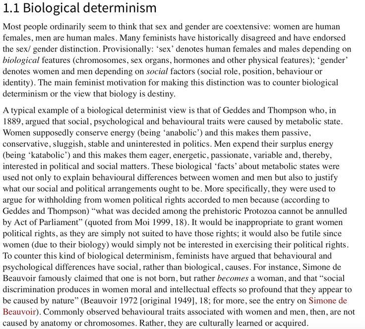 Determinism, Biological