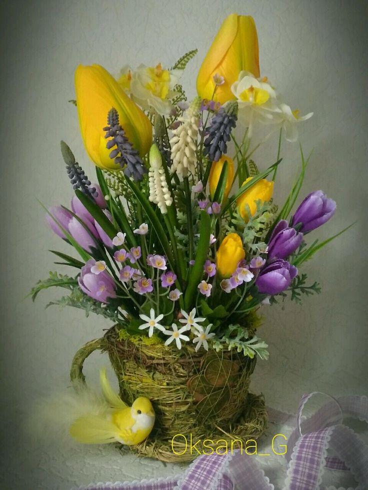 Интерьерная композиция *Весна* – купить в интернет-магазине на Ярмарке Мастеров с доставкой - F1KH3RU