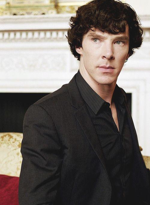 Sherlock...all in black...