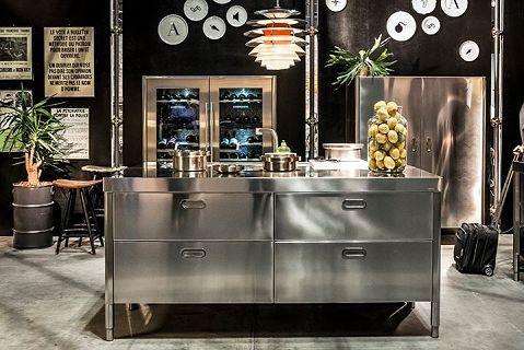 freistehende Küchen aus Edelstahlmoebel.de