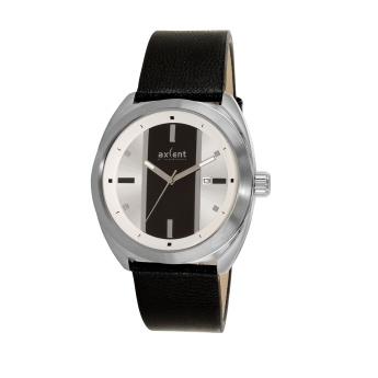 Axcent of Scandinavia: Reloj de cuero Negro y esfera blanca con franja central negra.  http://www.tutunca.es/reloj-racer-negro-y-blanco