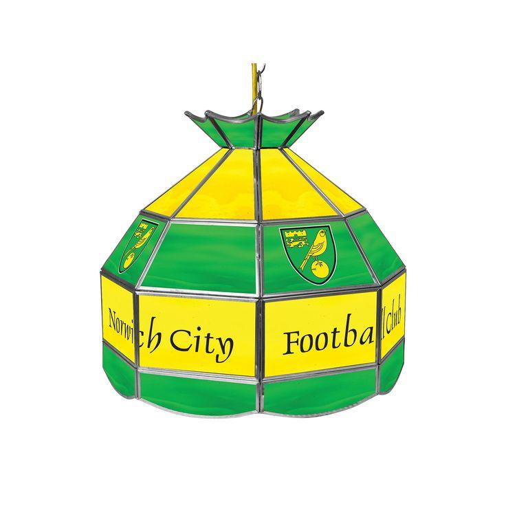 Norwich City FC Hanging Tiffany Lamp, Green