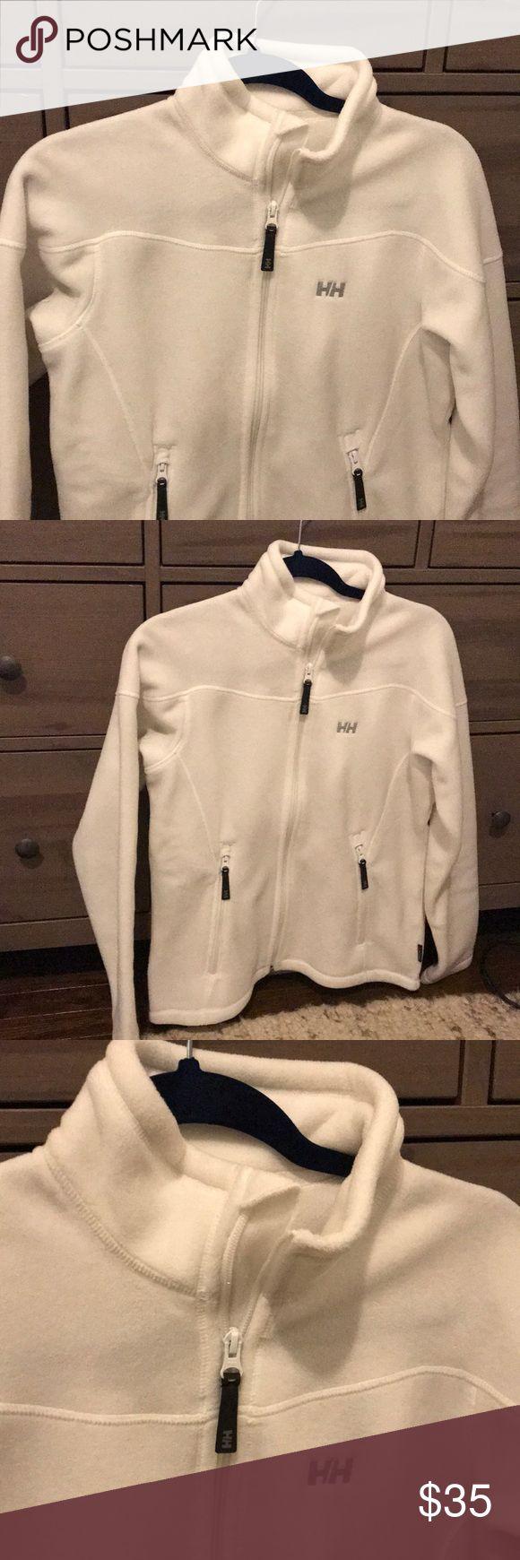 NWOT Helly Hansen White Full-Zip Fleece Jacket NWOT full-zip fleece jacket in a beautiful white color. Size medium. Helly Hansen Jackets & Coats