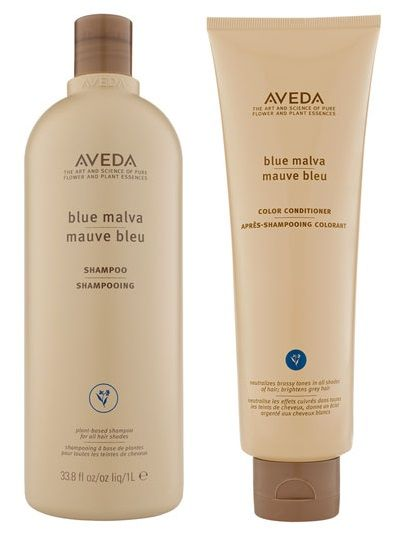 AVEDA Blue Malva Shampoo and Color Conditioner... designed