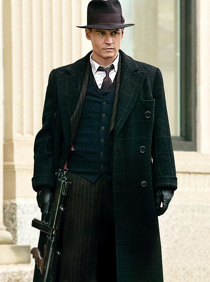 Johnny Depp as John Dillinger. Public Enemies was a so so film but it had redeemable qualities...