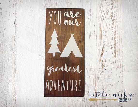 Du bist unser größtes Abenteuer >>  Dunkle Espresso gebeizt solide Holz…
