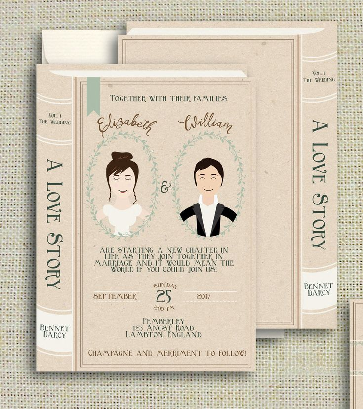 the 25+ best book theme wedding invitations ideas on pinterest, Wedding invitations