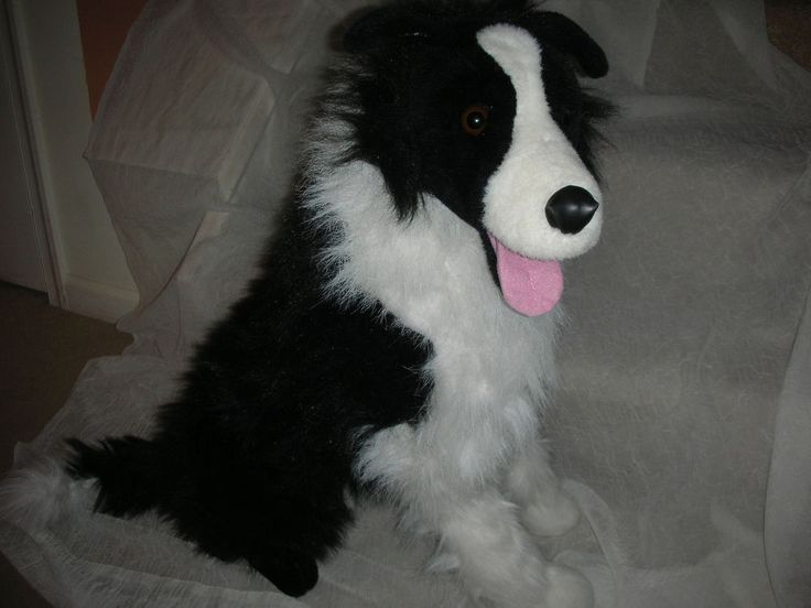 Border Collie Dog Giant Stuffed Plush Animal Melissa